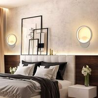 Indoor Minimalist White Wall Light Led Wall Sconce Creative Round Wall Lamp Warm White for Living Room Bedroom Hallway Corridor Stairs