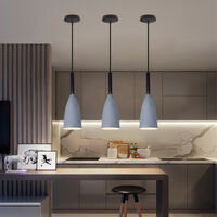 Nordic Modern Pendant Light Retro Hanging Light Vintage Style Pendant Lamp (Gray) for Bedroom Cafe Living Room Indoor Lighting
