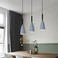 Modern Nordic Pendant Light Retro Hanging Light Vintage Style Pendant Lamp for Bedroom Cafe Living Room Indoor Lighting (Gray)