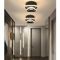 Modern Led Ceiling Light Nordic Style Acrylic Chandelier Creative Design Ceiling Lamp Black for Bedroom, Kitchen, Living Room, Corridor, Restaurant, Balcony, Warm White