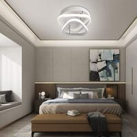 Modern Led Ceiling Light Nordic Style Acrylic Chandelier Creative Design Ceiling Lamp White for Bedroom, Kitchen, Living Room, Corridor, Restaurant, Balcony, Warm White