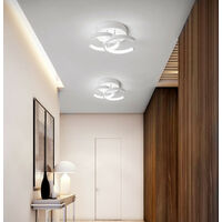 Modern Led Ceiling Light Nordic Style Chandelier Creative Acrylic Ceiling Lamp White for Bedroom, Kitchen, Living Room, Corridor, Restaurant, Balcony, Cold White