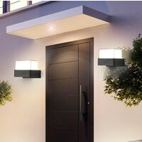 Modern Wall Light Led Black Wall Lamp Minimalist Wall Sconce Acrylic Wall Light for Bedroom Garden Courtyard Balcony Warm White
