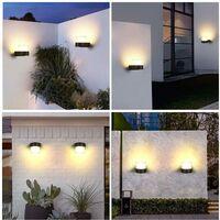 Modern Wall Light Minimalist Wall Sconce Led Black Wall Lamp Acrylic Wall Light for Bedroom Garden Courtyard Balcony Warm White