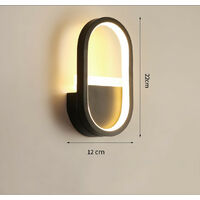 Modern Wall Light Creative Wall Lamp Warm White Led Indoor Wall Sconce for Stairs Hotel Living Room Bedside Hallway Black