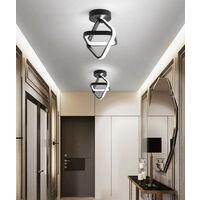 Modern Led Ceiling Light Black Nordic Style Chandelier Cube Design Ceiling Lamp for Bedroom, Kitchen, Living Room, Corridor, Restaurant, Balcony, Cold White