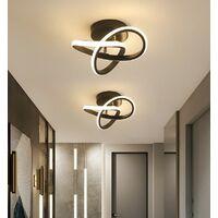 Modern Led Ceiling Light Black Nordic Style Chandelier Creative Design Ceiling Lamp for Bedroom, Kitchen, Living Room, Corridor, Restaurant, Balcony, Warm White