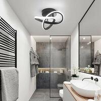Modern Led Ceiling Light Black Nordic Style Chandelier Creative Design Ceiling Lamp for Bedroom, Kitchen, Living Room, Corridor, Restaurant, Balcony, Cold White