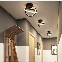 Modern Led Ceiling Light Black Nordic Style Chandelier Circle Design Ceiling Lamp for Bedroom, Kitchen, Living Room, Corridor, Restaurant, Balcony, Warm White