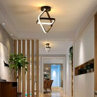 Modern Led Ceiling Light Black Nordic Style Chandelier Cube Design Ceiling Lamp for Bedroom, Kitchen, Living Room, Corridor, Restaurant, Balcony, Warm White
