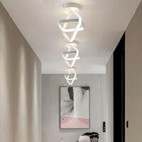 Modern Led Ceiling Light White Nordic Style Chandelier Cube Design Ceiling Lamp for Bedroom, Kitchen, Living Room, Corridor, Restaurant, Balcony, Warm White