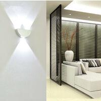 Modern Wall Light Indoor Wall Light Metal Aluminum Wall Lamp Cold White for Bedroom Living Room Hotel Hallway Corridor Dining Room 3000K