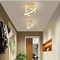 Modern Led Ceiling Light Gold Nordic Style Chandelier Circle Design Ceiling Lamp for Bedroom, Kitchen, Living Room, Corridor, Restaurant, Balcony, Warm White