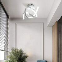 Modern Led Ceiling Light White Nordic Style Acrylic Chandelier Creative Design Ceiling Lamp for Bedroom, Kitchen, Living Room, Corridor, Restaurant, Balcony, Cold White