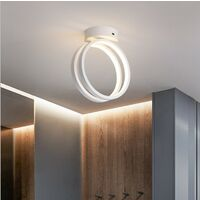 Modern Led Ceiling Light Nordic Chandelier Creative Acrylic Circle Ceiling Lamp White for Bedroom, Kitchen, Living Room, Corridor, Restaurant, Balcony, Warm White
