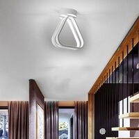 Modern Led Ceiling Light Nordic Chandelier Creative Acrylic Triangle Ceiling Lamp White for Bedroom, Kitchen, Living Room, Corridor, Restaurant, Balcony, Cold White