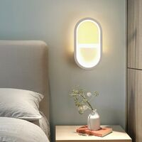 Modern Wall Light Creative Wall Lamp Warm White Led Indoor Wall Sconce for Stairs Hotel Living Room Bedside Hallway White