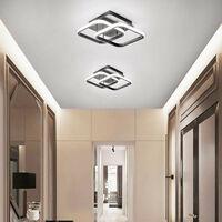 Nordic Style Acrylic Chandelier Modern Led Ceiling Light Black Creative Design Ceiling Lamp for Bedroom, Kitchen, Living Room, Corridor, Restaurant, Balcony, Cold White