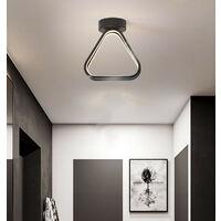 Modern Led Ceiling Light Nordic Chandelier Creative Acrylic Triangle Ceiling Lamp Black for Bedroom, Kitchen, Living Room, Corridor, Restaurant, Balcony, Warm White