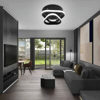 Modern Led Ceiling Light Nordic Style Acrylic Chandelier Creative Design Ceiling Lamp Black for Bedroom, Kitchen, Living Room, Corridor, Restaurant, Balcony, Cold White