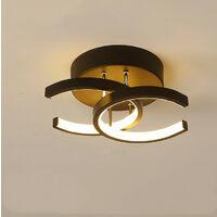 Modern Led Ceiling Light Nordic Style Chandelier Creative Acrylic Ceiling Lamp Black for Bedroom, Kitchen, Living Room, Corridor, Restaurant, Balcony, Warm White