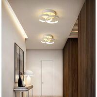 Modern Led Ceiling Light Nordic Style Chandelier Creative Acrylic Ceiling Lamp White for Bedroom, Kitchen, Living Room, Corridor, Restaurant, Balcony, Warm White