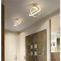 Modern Led Ceiling Light White Nordic Style Chandelier Circle Design Ceiling Lamp for Bedroom, Kitchen, Living Room, Corridor, Restaurant, Balcony, Warm White
