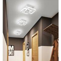 Nordic Style Acrylic Chandelier Modern Led Ceiling Light White Creative Design Ceiling Lamp for Bedroom, Kitchen, Living Room, Corridor, Restaurant, Balcony, Cold White