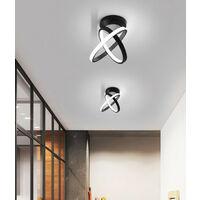 Modern Led Ceiling Light Black Nordic Style Chandelier Circle Design Ceiling Lamp for Bedroom, Kitchen, Living Room, Corridor, Restaurant, Balcony, Cold White