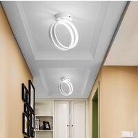 Modern Led Ceiling Light Nordic Chandelier Creative Acrylic Circle Ceiling Lamp White for Bedroom, Kitchen, Living Room, Corridor, Restaurant, Balcony, Cold White
