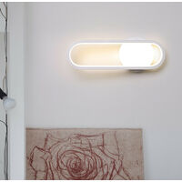 Modern Wall Light Creative Wall Light Warm White Led Indoor Wall Sconce White 3000K for Hallway Stairs Hotel Living Room Bedside