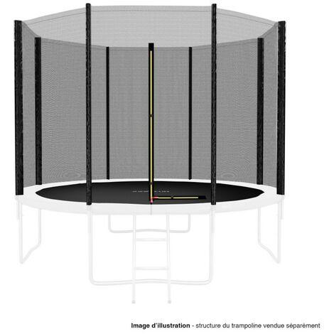 Filet de sécurité extérieur Universel pour trampoline ø 10Ft, 8 Perches - Noir