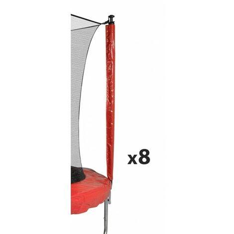 Protection pour perches de trampolines toutes tailles Pack de 8 Chaussettes universelles - Rouge