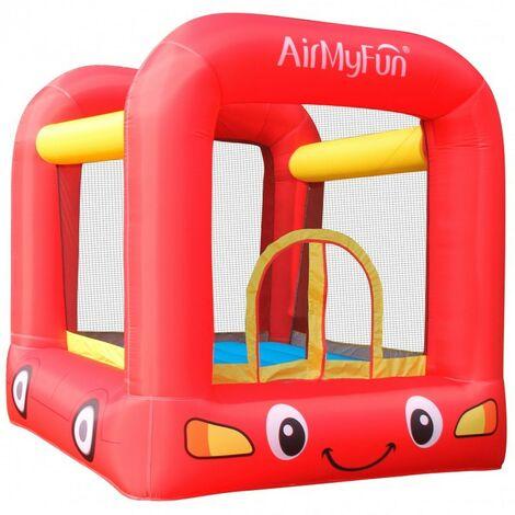 Château Gonflable Jumpy Car avec aire de jeux et trampoline, Surface 210x205x200 cm - souffleur et sac de rangement inclus - Multicolore