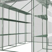 Serre de Jardin 4m² - avec étagères et porte zipée Surface - Vert