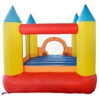 Château gonflable pour enfants 2,8m : aire de jeux avec toboggan - souffleur et sac de rangement inclus - Castle Bouncer - Multicolore