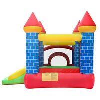 Château Gonflable 3m : aire de jeux avec toboggan - souffleur et sac de rangement inclus - Castle Bouncer Deluxe - Multicolore