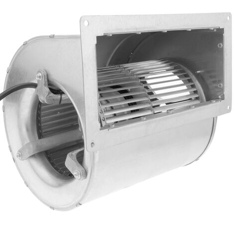 PrimeMatik - Extractor de aire centrífugo radial para ventilación industrial 1320 rpm rectangular 269x236x217 mm