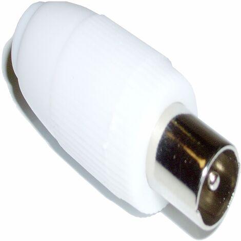 BeMatik - Conector Antena TV Macho (Recto/Plástico)