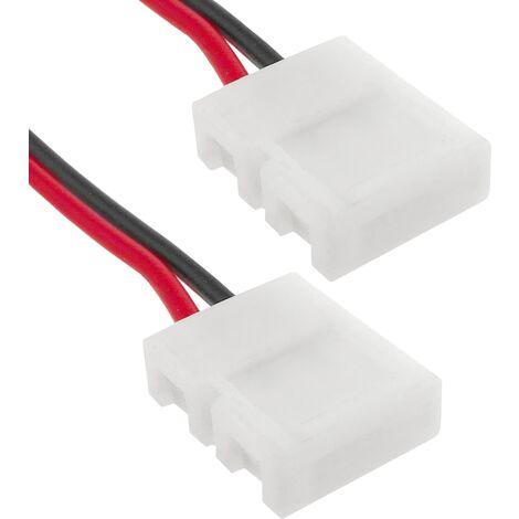 BeMatik - Empalme a presión con cable para tira de LED monocromo 10mm