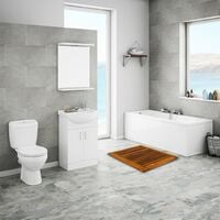 PrimeMatik - Tarima para ducha y baño rectangular 60 x 45 cm de madera de teca certificada