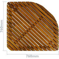 PrimeMatik - Tarima para ducha y baño cuadrada 76 x 76 cm de madera de teca certificada