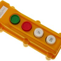 BeMatik - Caja de 2 pulsadores momentáneos y 2 conmutadores de la serie COB