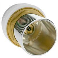 PrimeMatik - Válvula de desagüe 9cm con rebosadero. Tapón para lavabo y baño universal G1-1/4 cromado