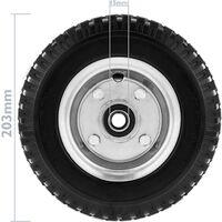 """PrimeMatik - Rueda maciza de carretilla anti-pinchazos 2-pack 70 Kg 8x2.5"""" 203x64 mm para carros y plataformas de transporte"""