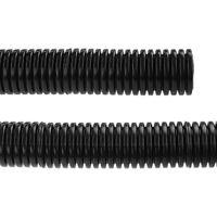 BeMatik - Tubo corrugado PVC flexible M-25 75 m Negro