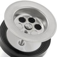 """PrimeMatik - Sifón """"Y"""" compacto con válvula para lavabo-bidet ∅ 40 x 32 mm"""
