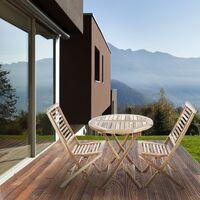 PrimeMatik - Silla plegable para jardín exterior de madera de teca certificada