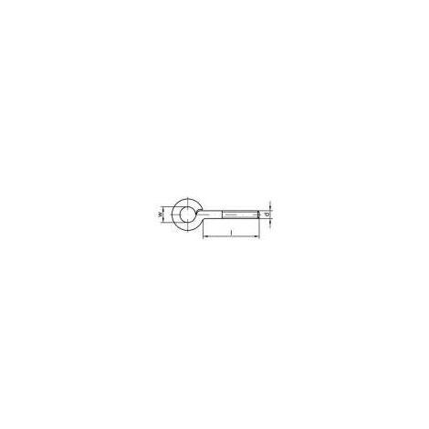 Œillet fileté type 48 TOOLCRAFT 159575 M6 x 70 mm En acier zingué galvanisé 100 pc(s) Q30343