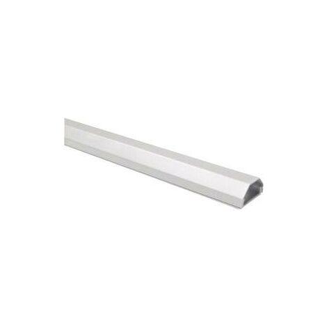 Goulotte aluminium couleur argent dimensions (L x l x H) 1100 x 50 x 26 mm B-Tech 2731HZ3SITZ26 S10789